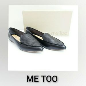 Me Too Black Flat Loafers NWT Size 6M